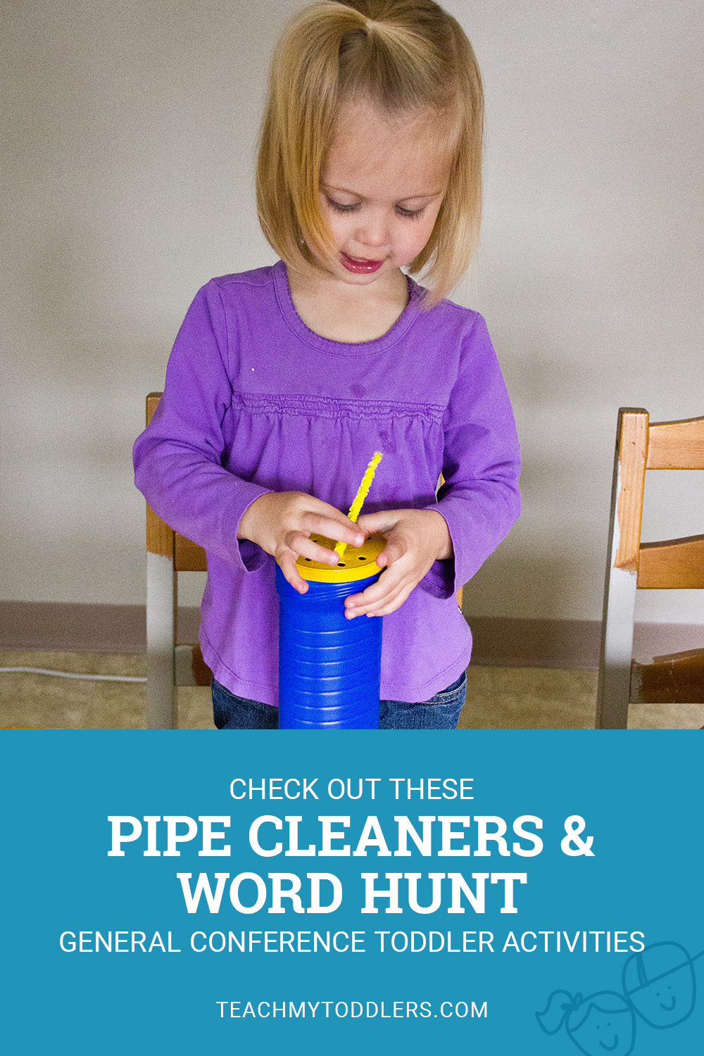 Check out these pipe cleaners and word hunt general conference toddler activities