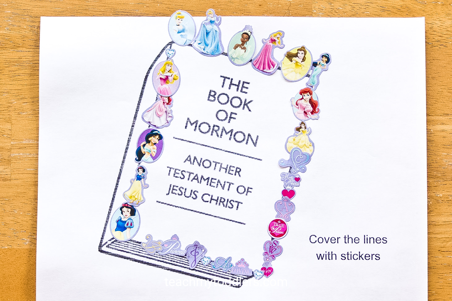 Print out these awesome sticker pages for your toddler during general conference