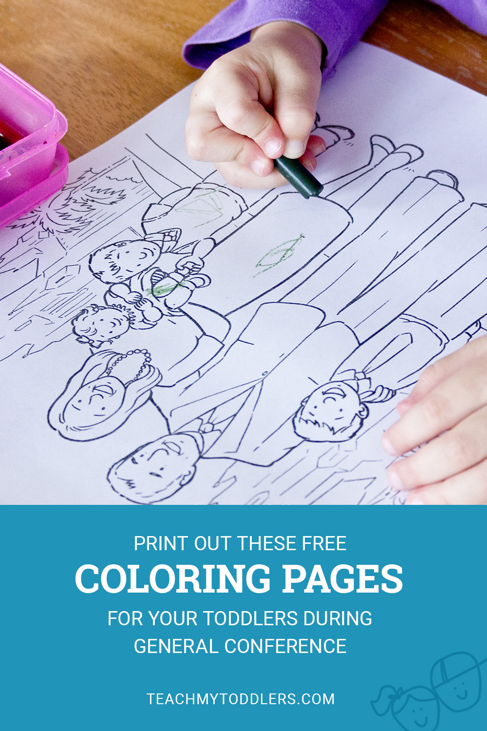 Print out these free coloring pages for your toddlers during general conference