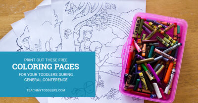 Print out these free coloring pages for your toddlers to do during general conference
