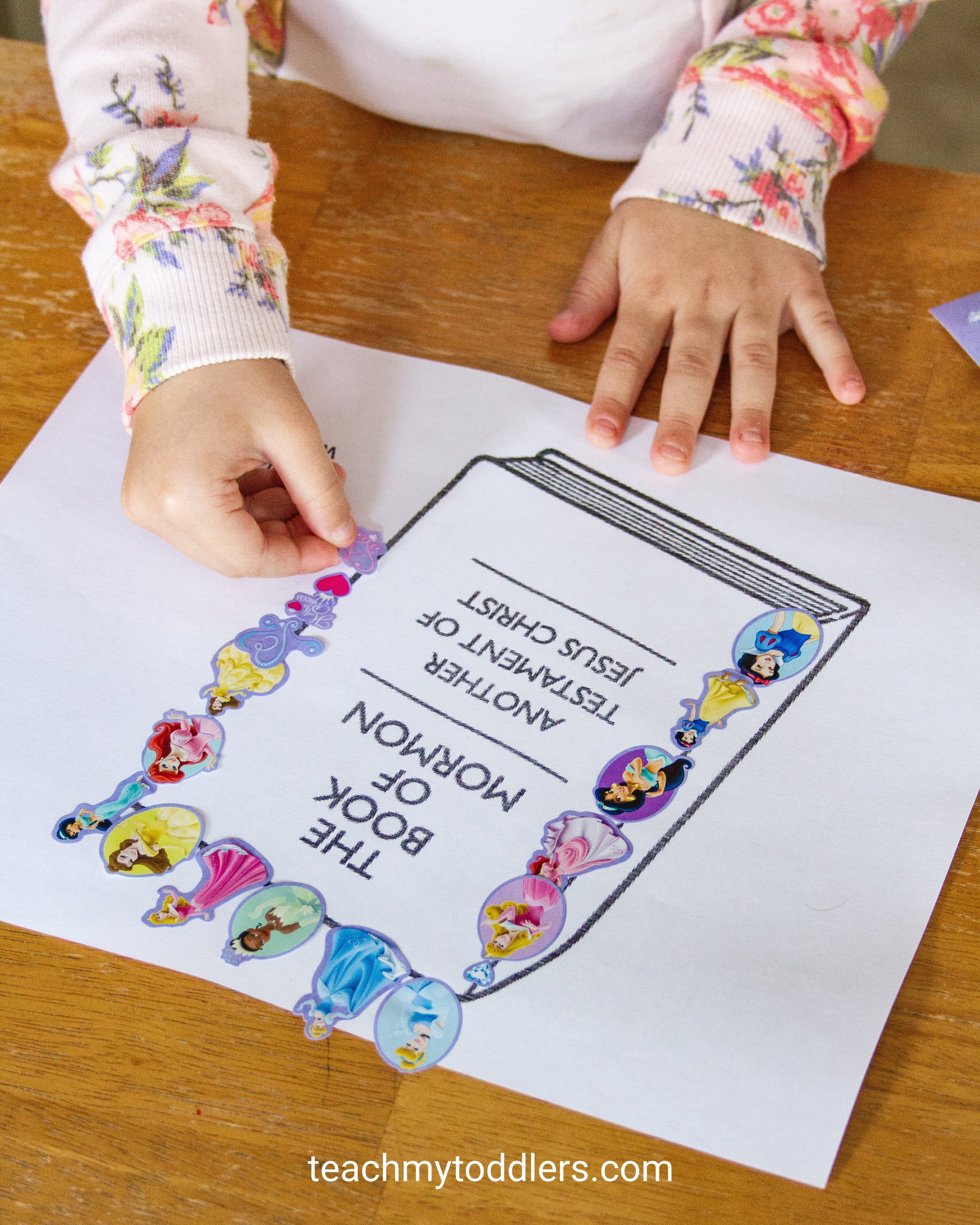 Print out these free sticker pages for toddlers during general conference