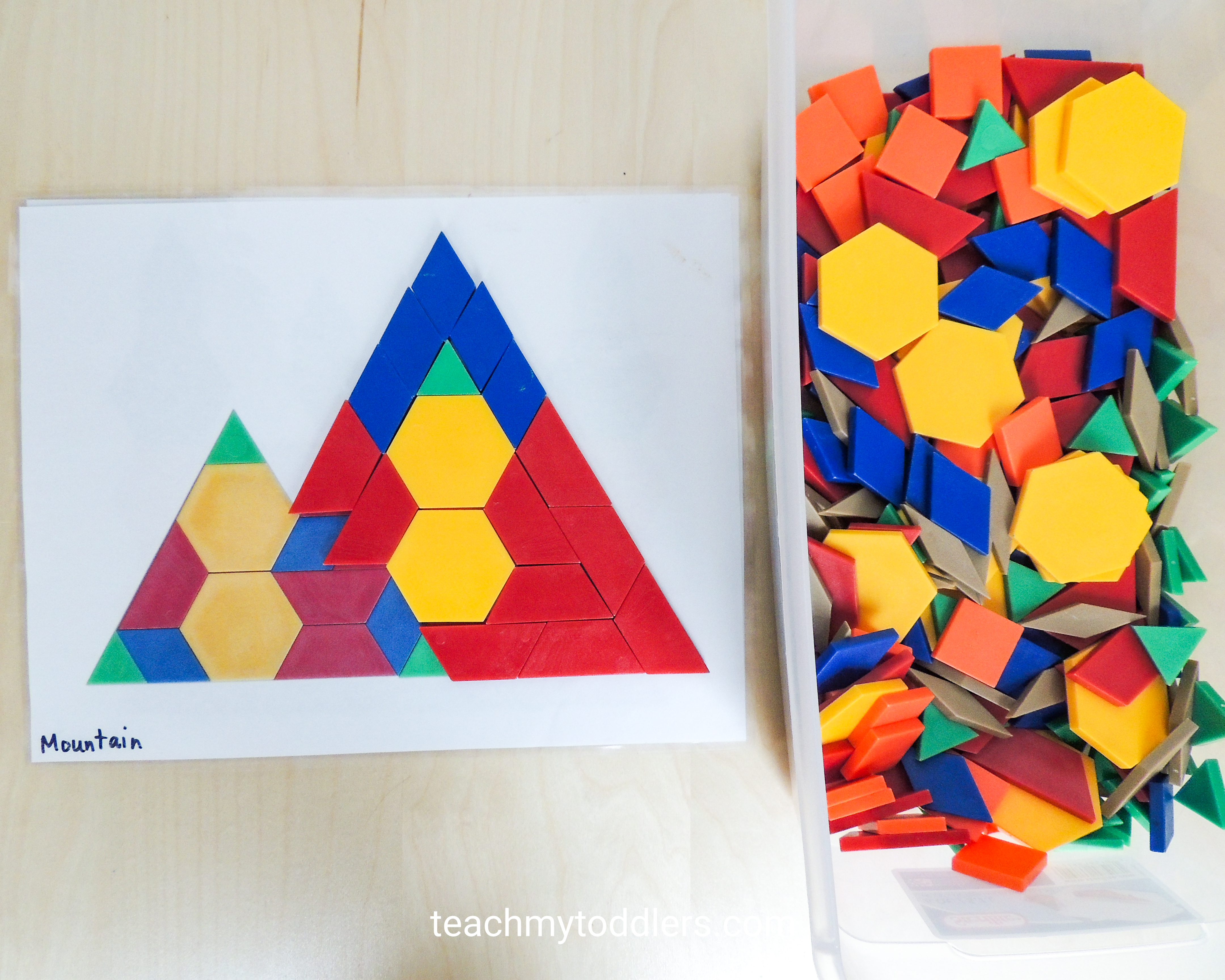 Try these awesome activities using ribbons and pattern blocks for your toddlers during general conference