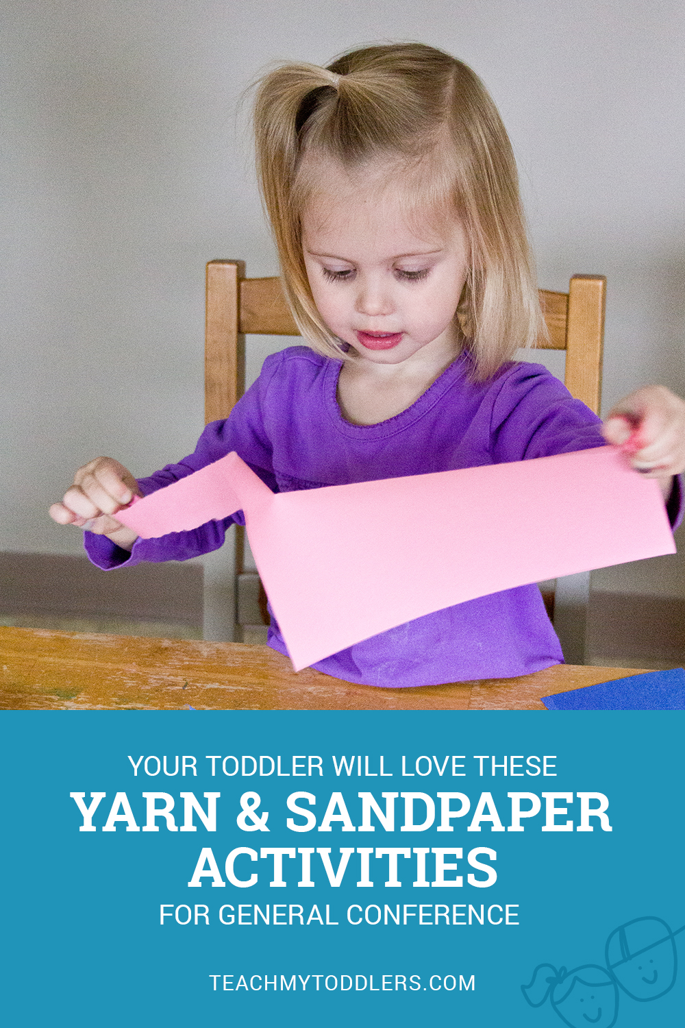 Your toddlers will love these yarn and sandpaper activities for general conference