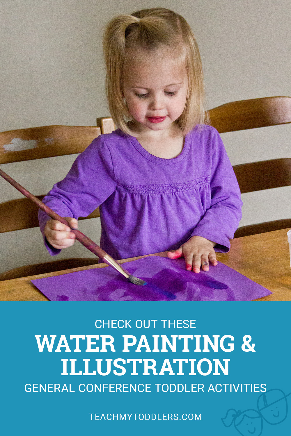 Check out these water painting and illustration general conference toddler activities