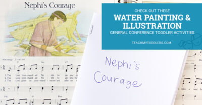 Check out these water painting and illustration toddler general conference activities
