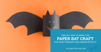 Find out how to make this paper bat craft for your toddler's halloween activity