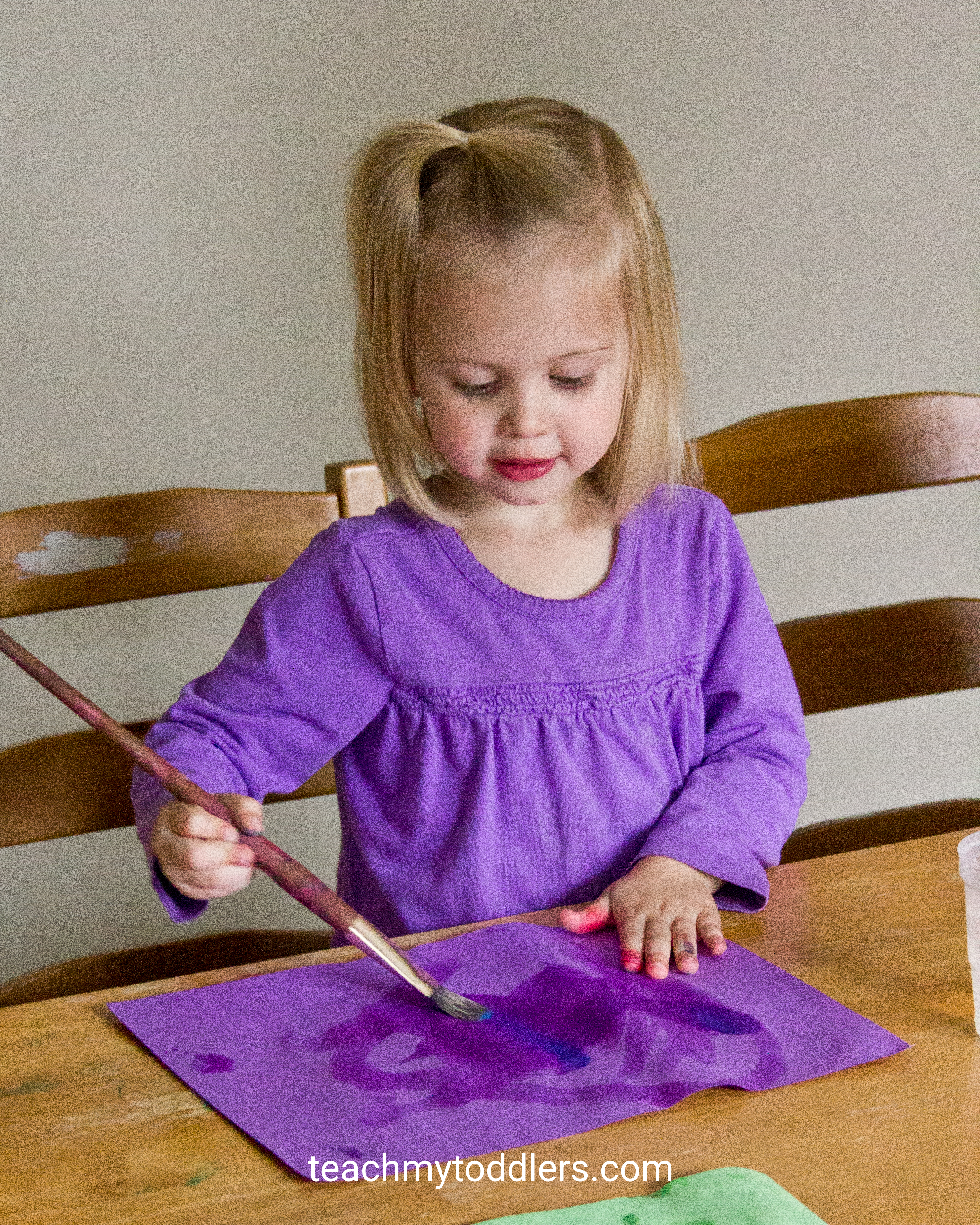 Great activity for your toddlers using paper and water for painting during general conference