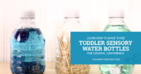 Learn how to make sensory water bottles for your toddler during General Conference