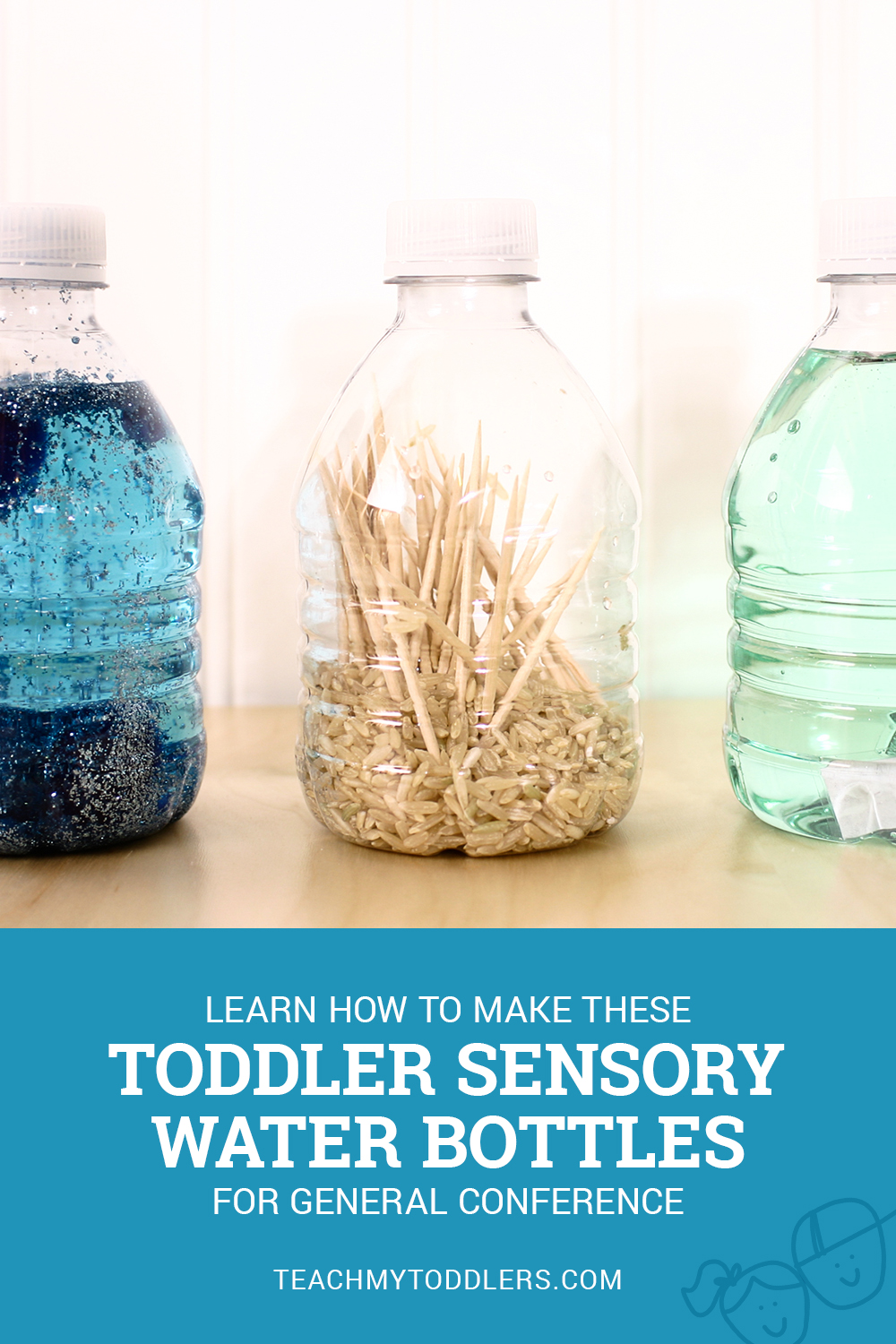 Learn how to make sensory water bottles for your toddler during LDS General Conference