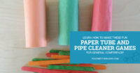 Learn how to make these fun paper tube and pipe cleaner games for your toddler for General Conference