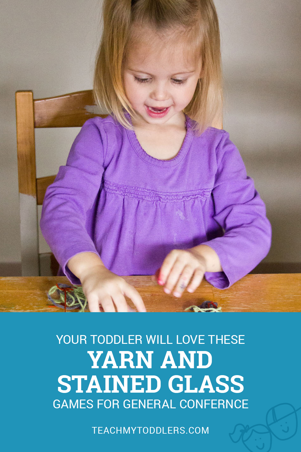 Yarn and stained glass activities for your succulent to play with during General Conference!