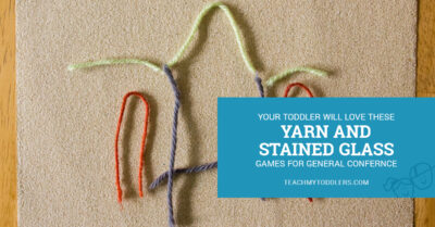 Yarn and stained glass activities for your succulent to play with during General Conference