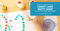 Find out how to use this candy cane math game to teach toddlers number
