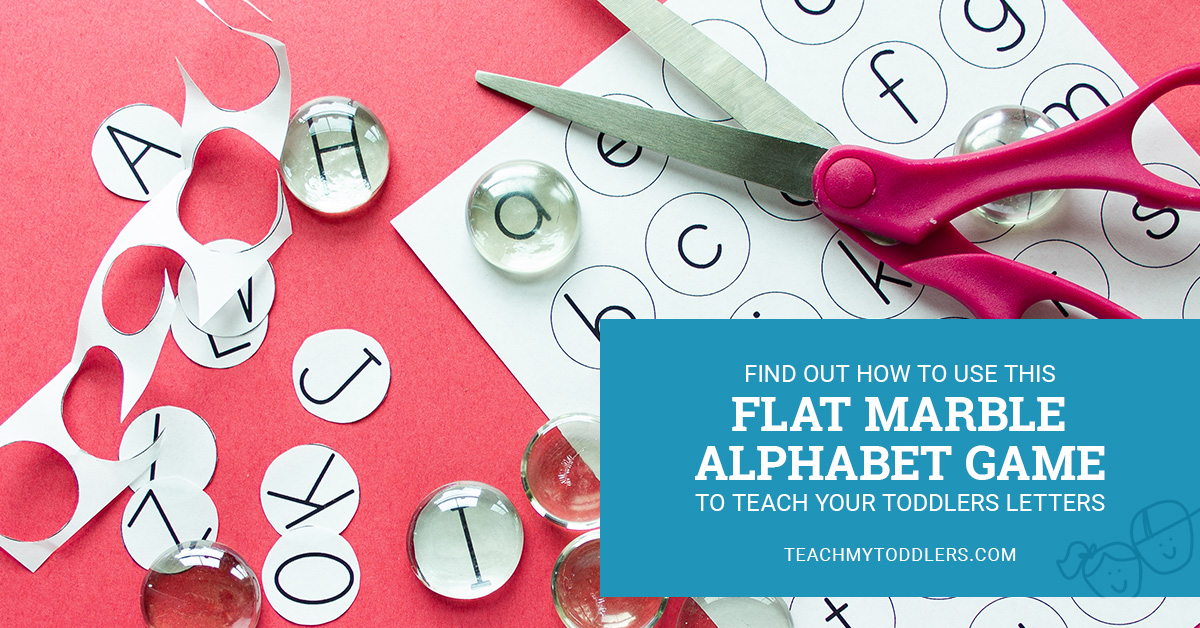 Find out how to use this flat marble alphabet game to teach toddlers letters