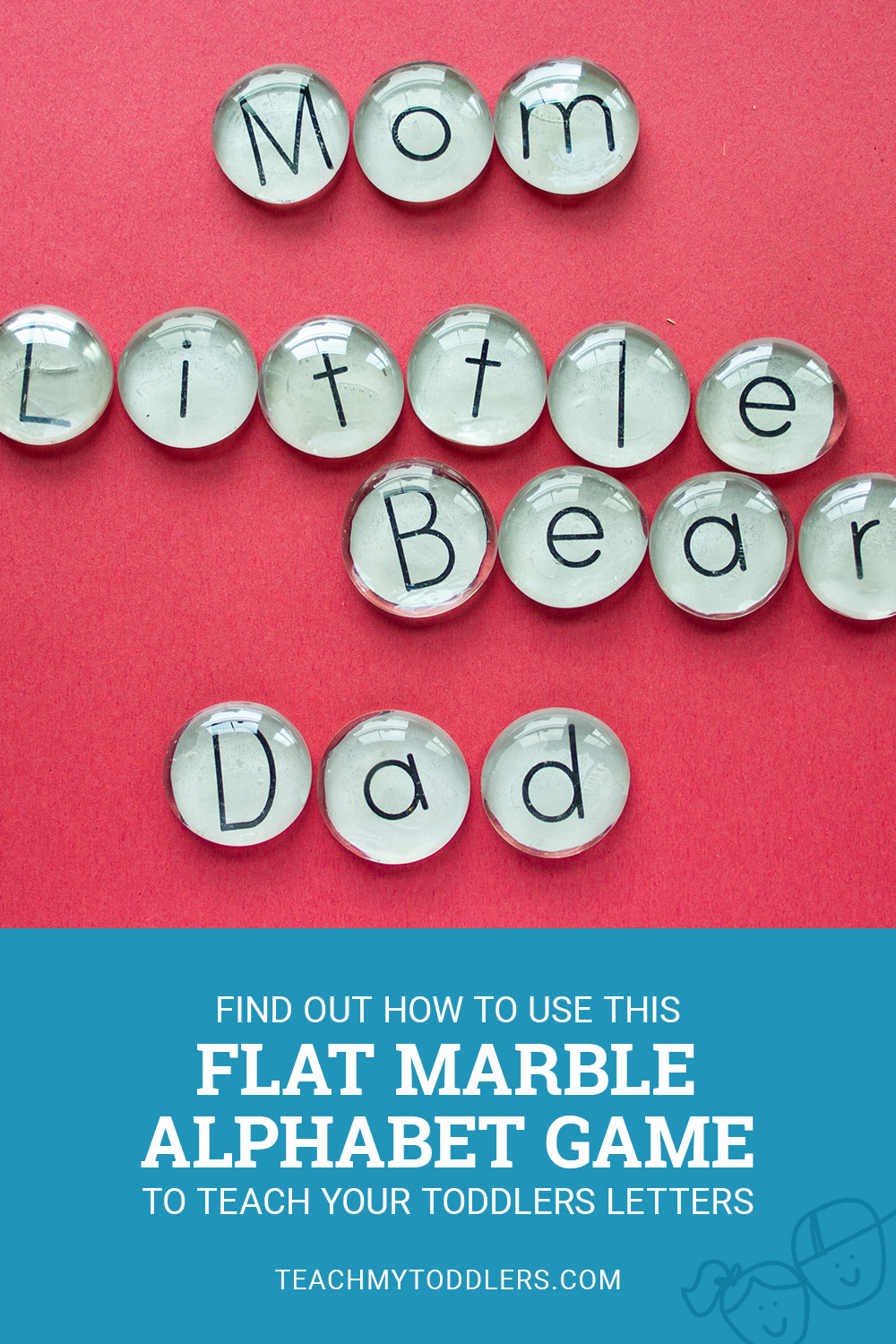 Find out how to use this flat marble alphabet game to teach your toddlers letters