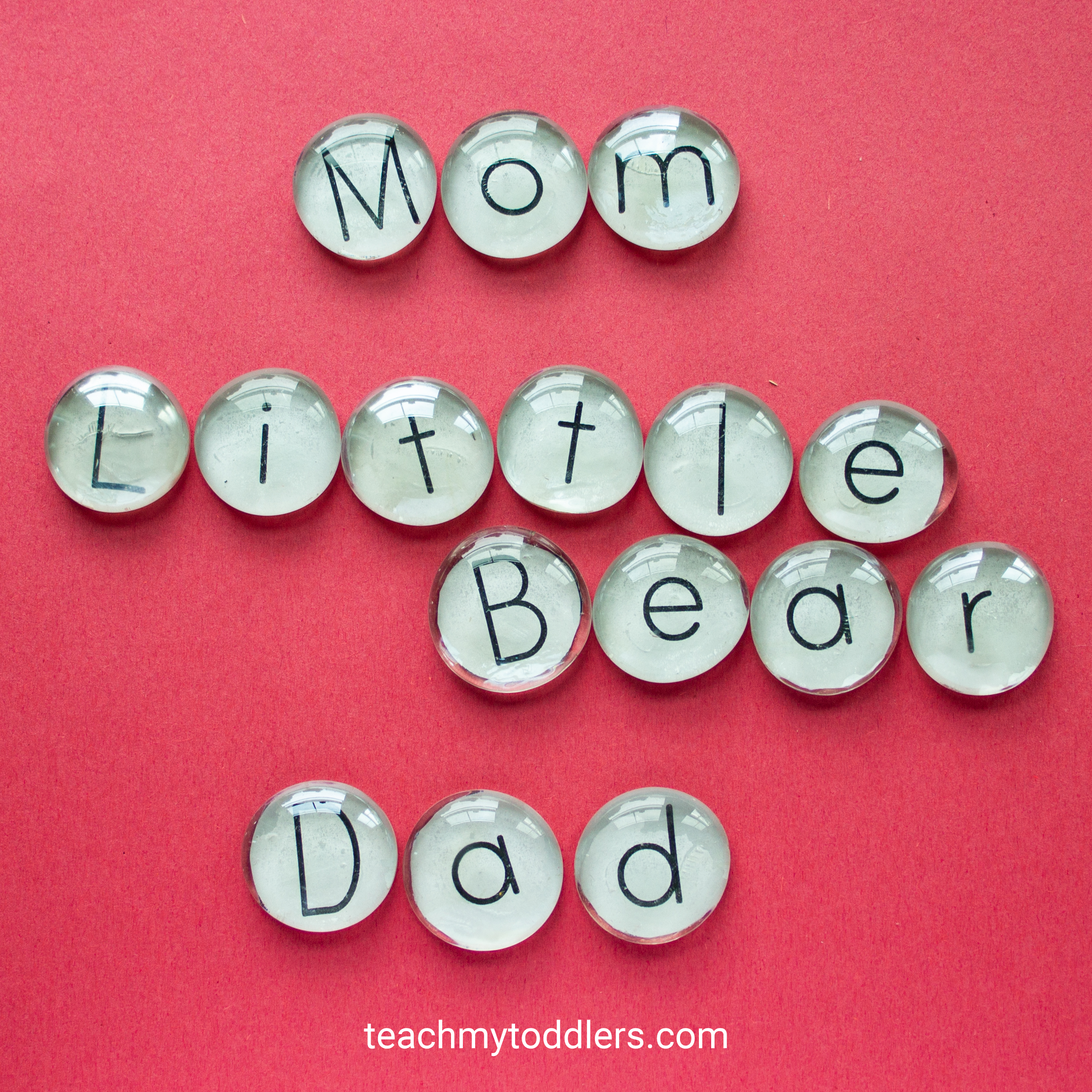 These flat marble letters are a great idea to teach your toddlers the alphabet