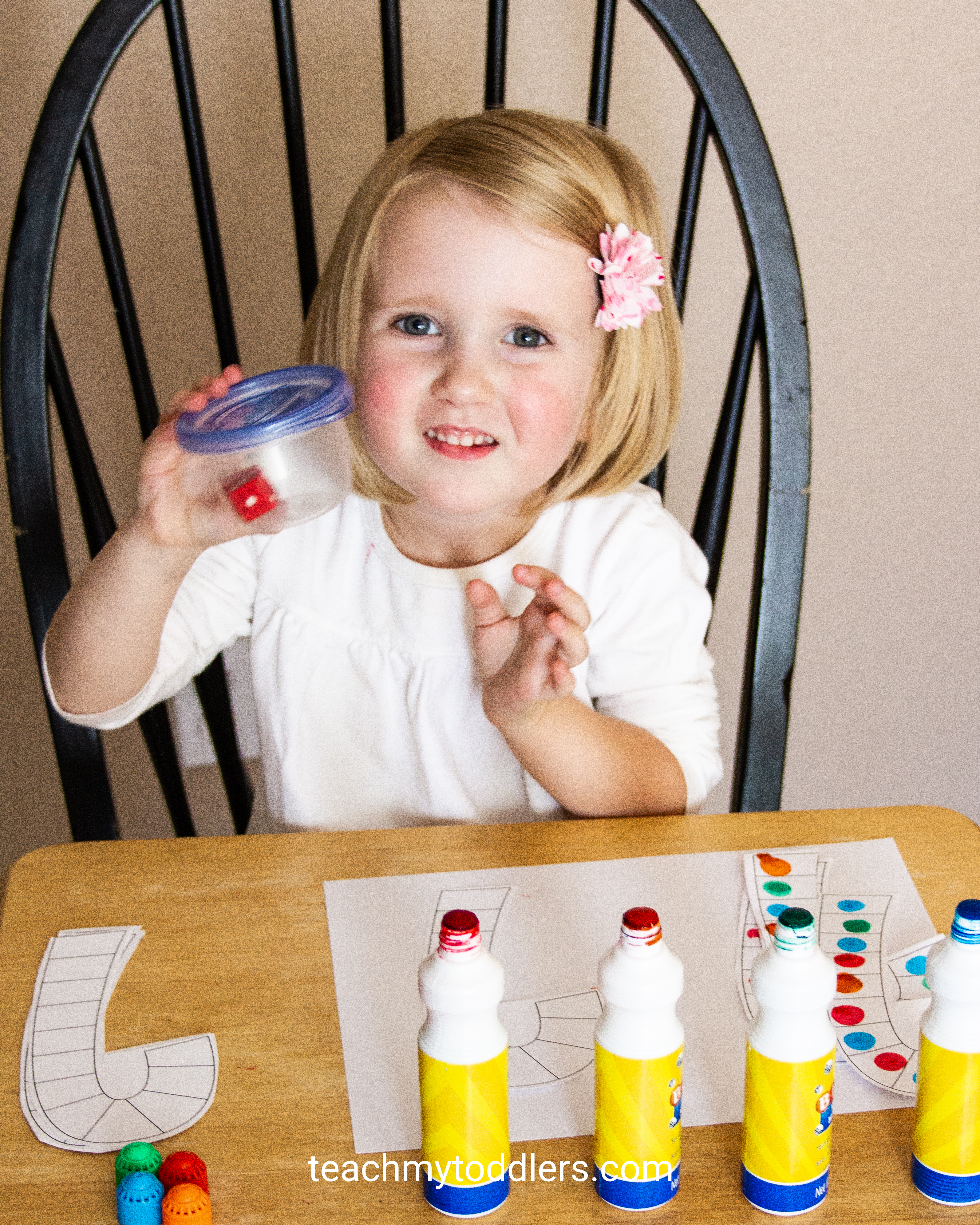 Use this fun activity called candy cane math game to teach toddlers numbers