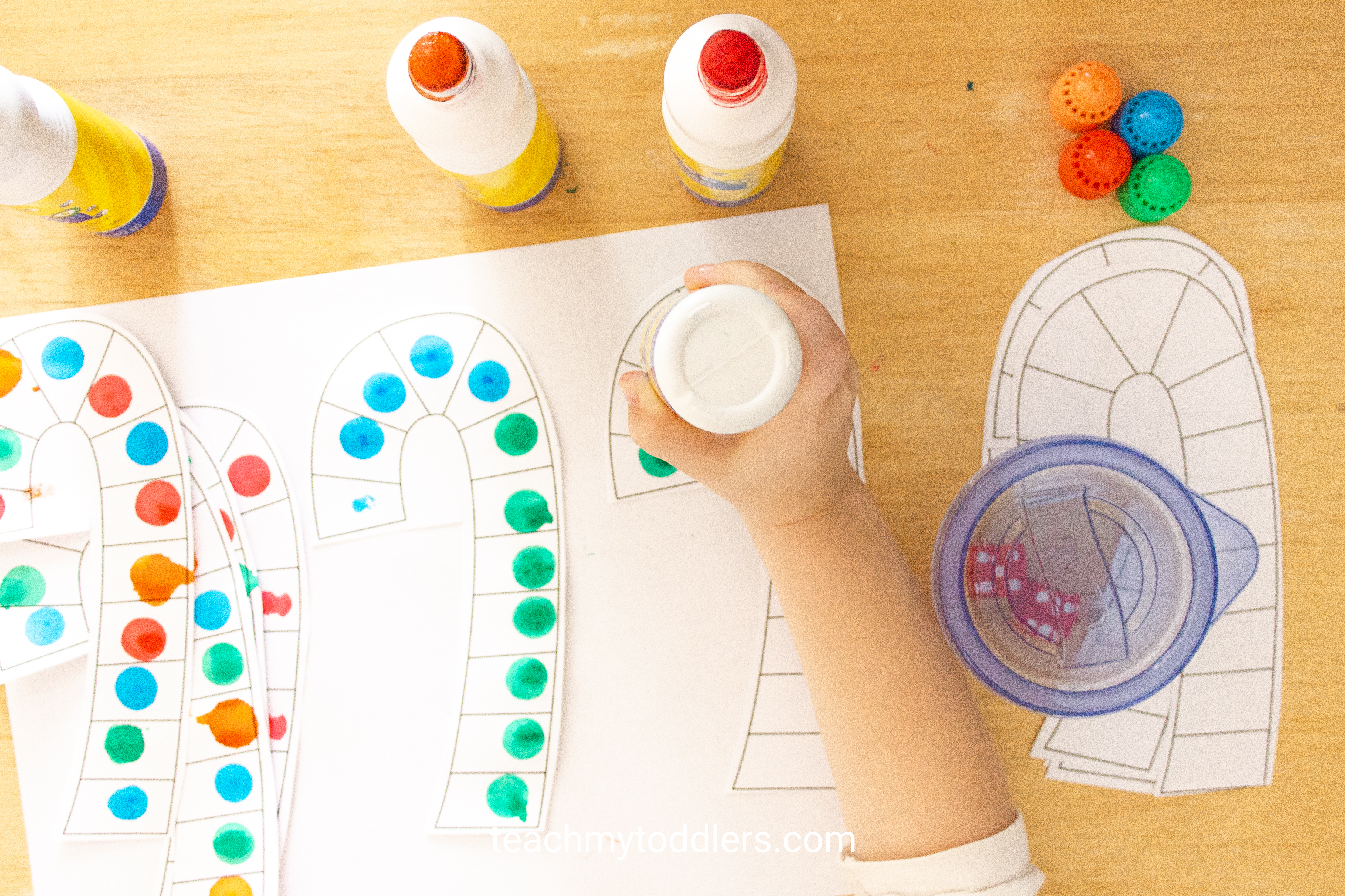Use this fun activity called candy cane math game to teach your toddlers numbers