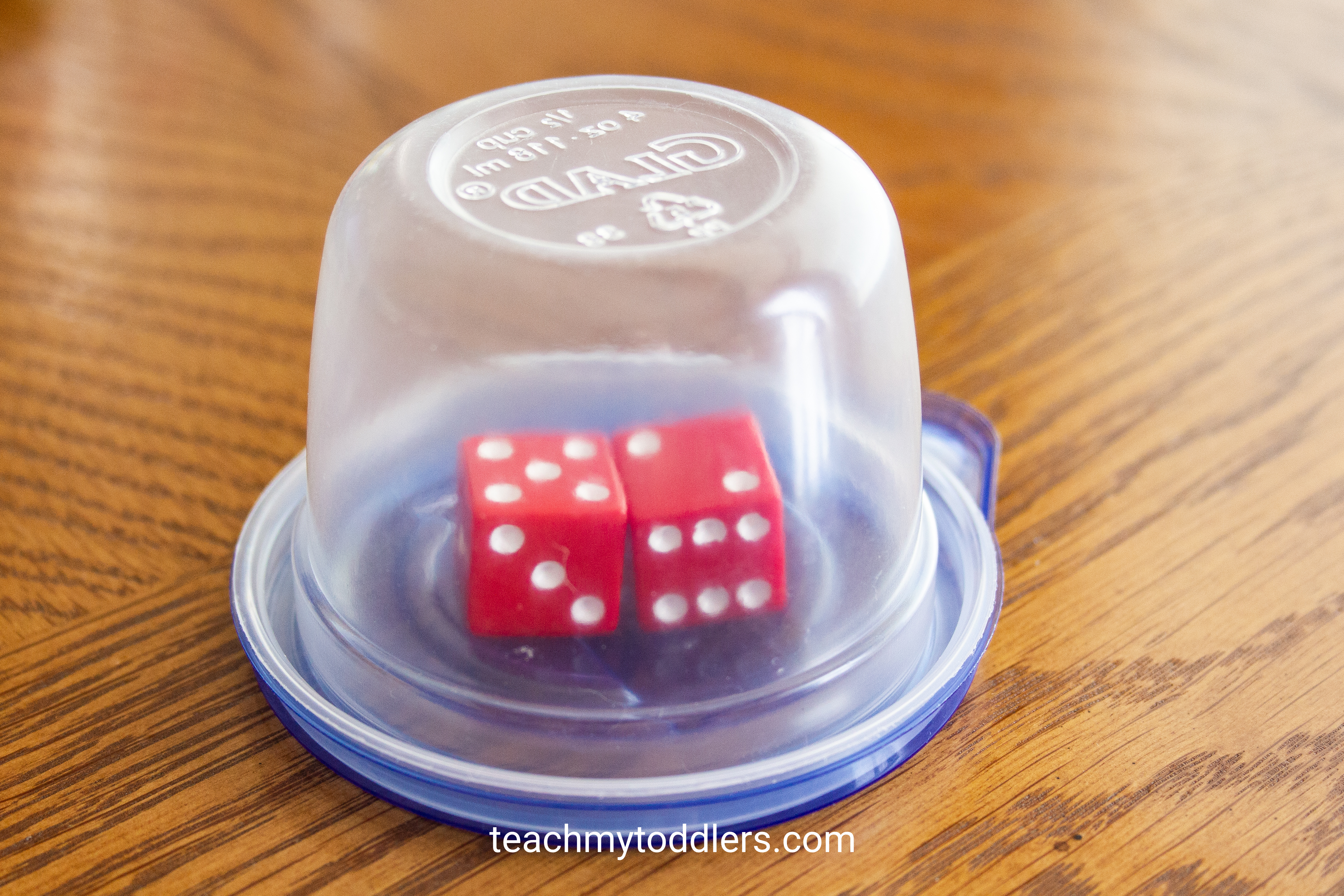 Use this fun idea called candy cane math game to teach toddlers numbers