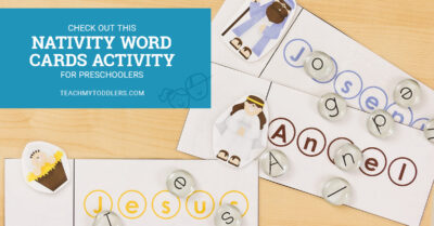 Check out this fun nativity word cards activity for preschoolers
