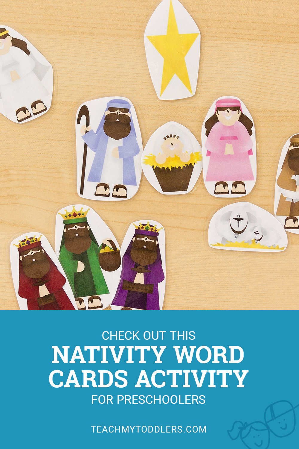 Check out this nativity word cards activity for preschoolers