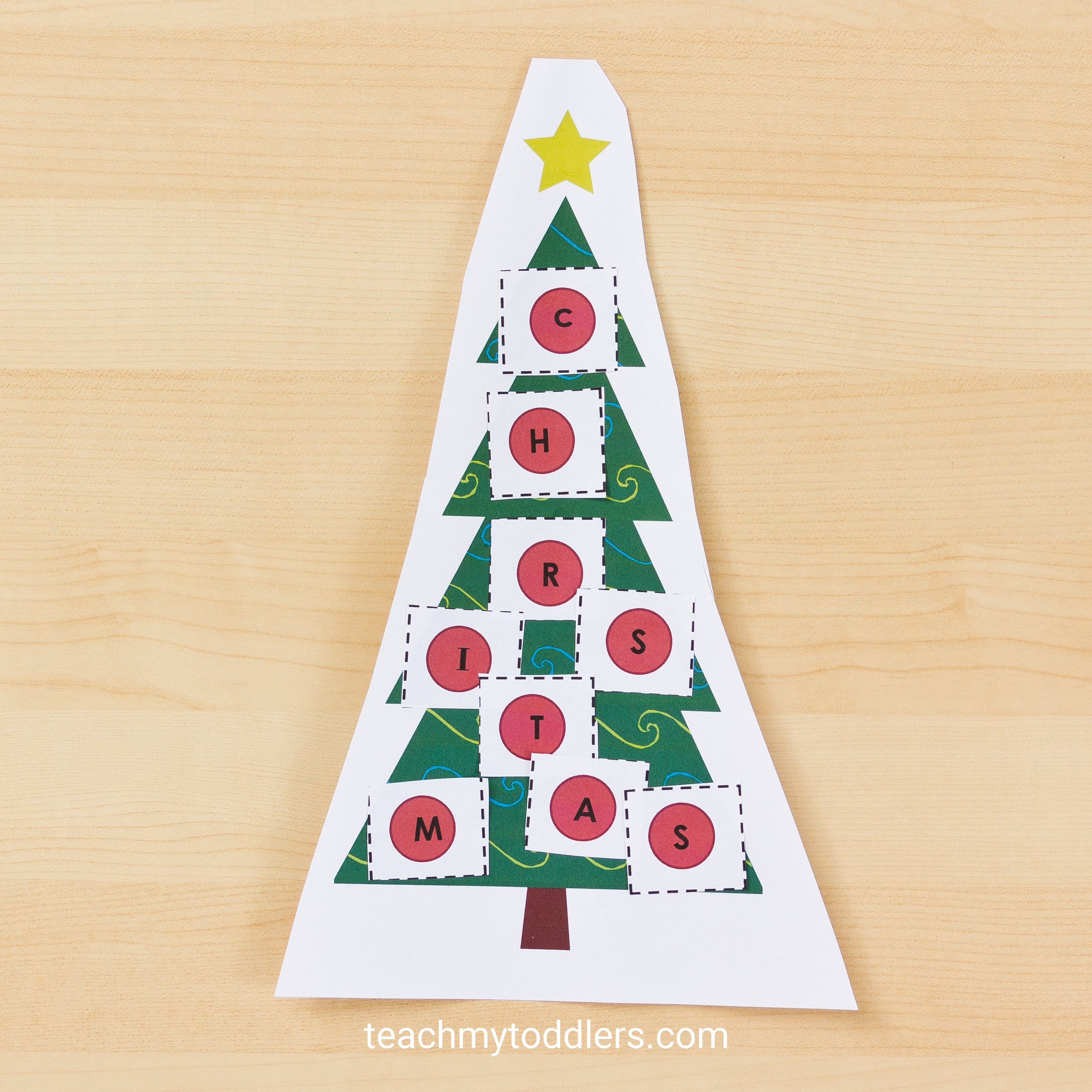 Discover how to use these christmas tree activities to teach toddlers letters and colors