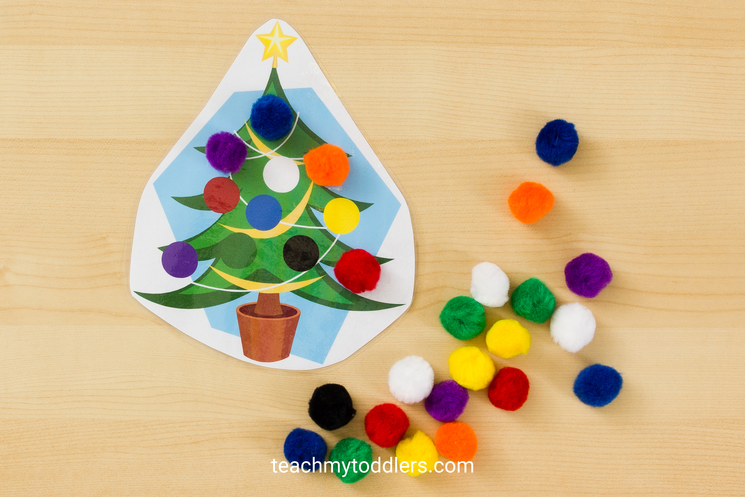 Discover how to use these christmas tree activities to teach your toddlers letters and colors