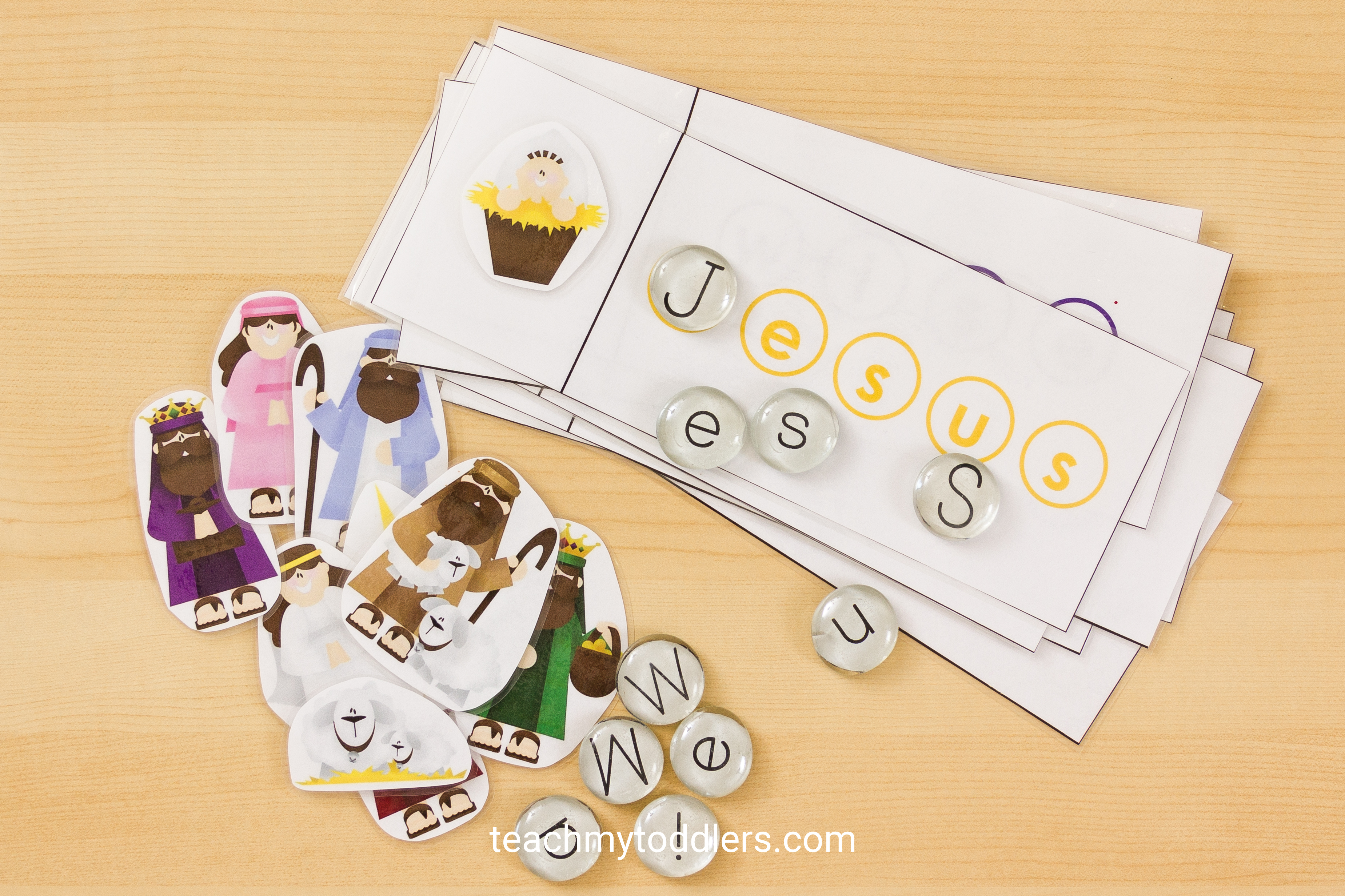 Discover how to use this fun nativity word cards activity for your preschoolers