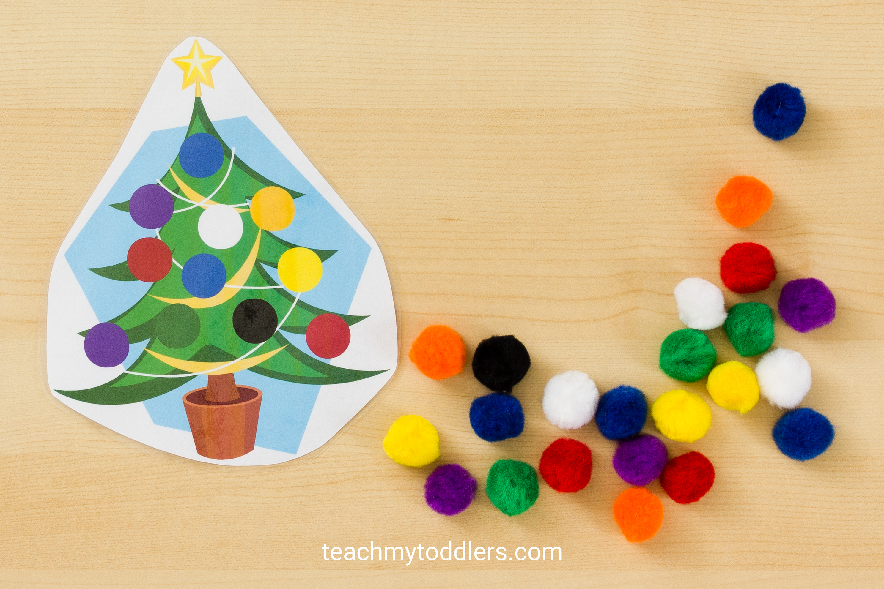 Find out how to use these christmas tree activities to teach toddlers letters and colors