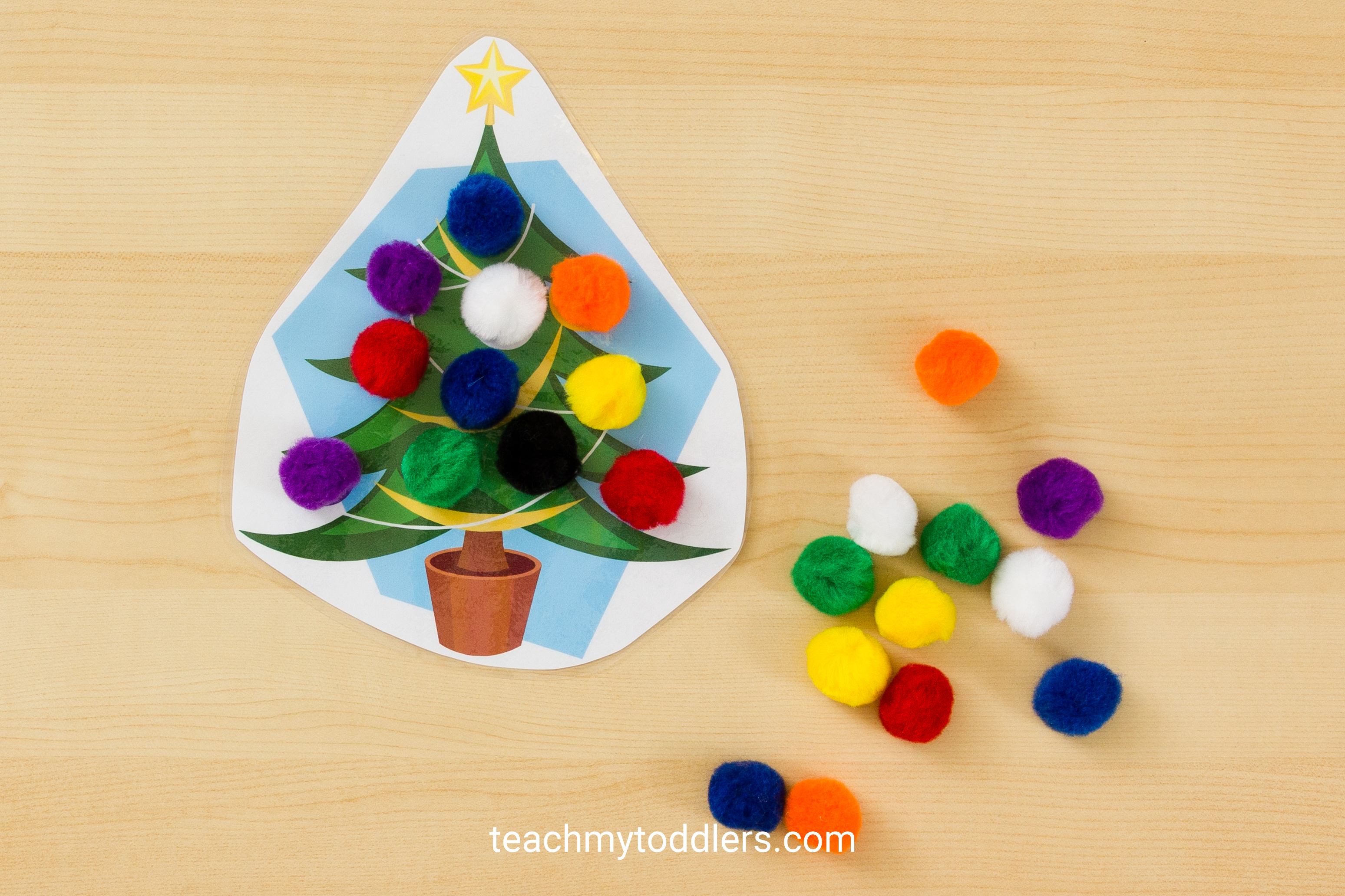 Find out how to use these christmas tree activities to teach your toddlers letters and colors