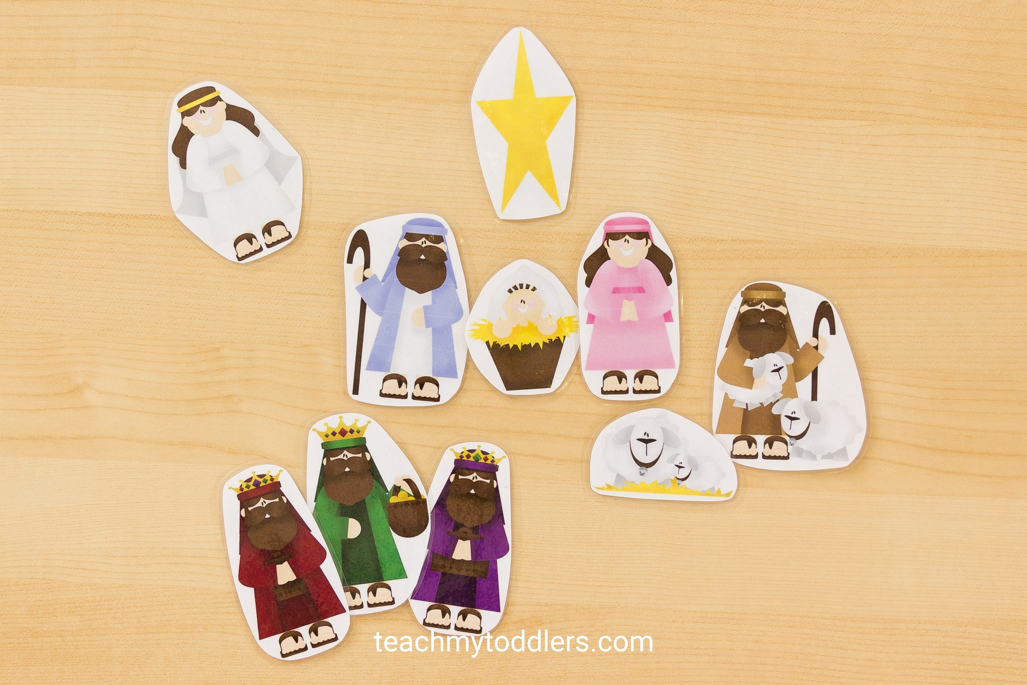 Find out this fun nativity word cards activity for preschoolers