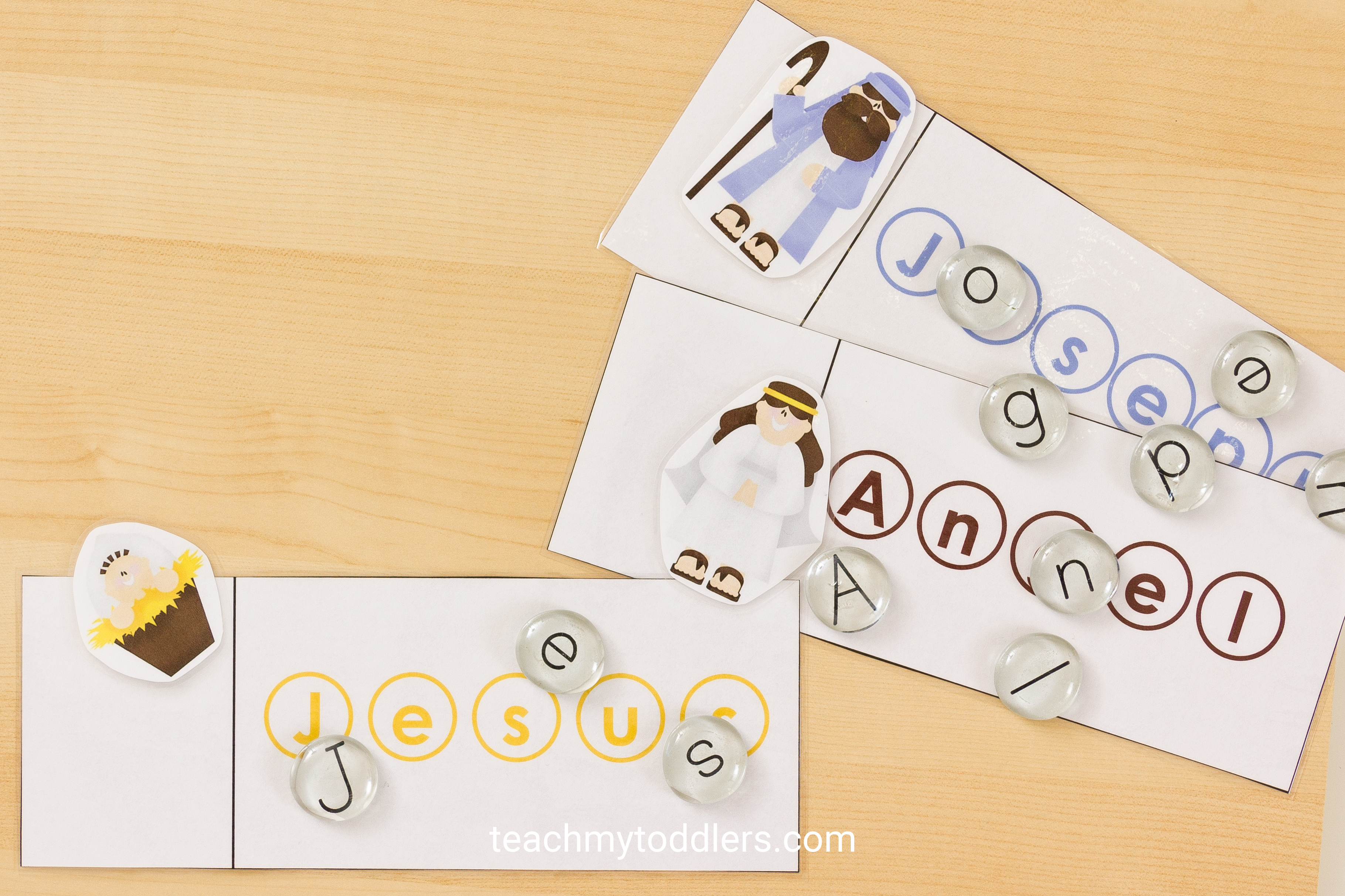 Find out this fun nativity word cards activity for your preschoolers