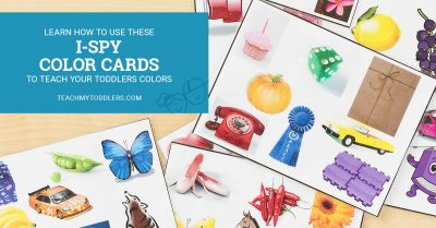 Learn how to use these ispy color cards to teach your toddlers colors