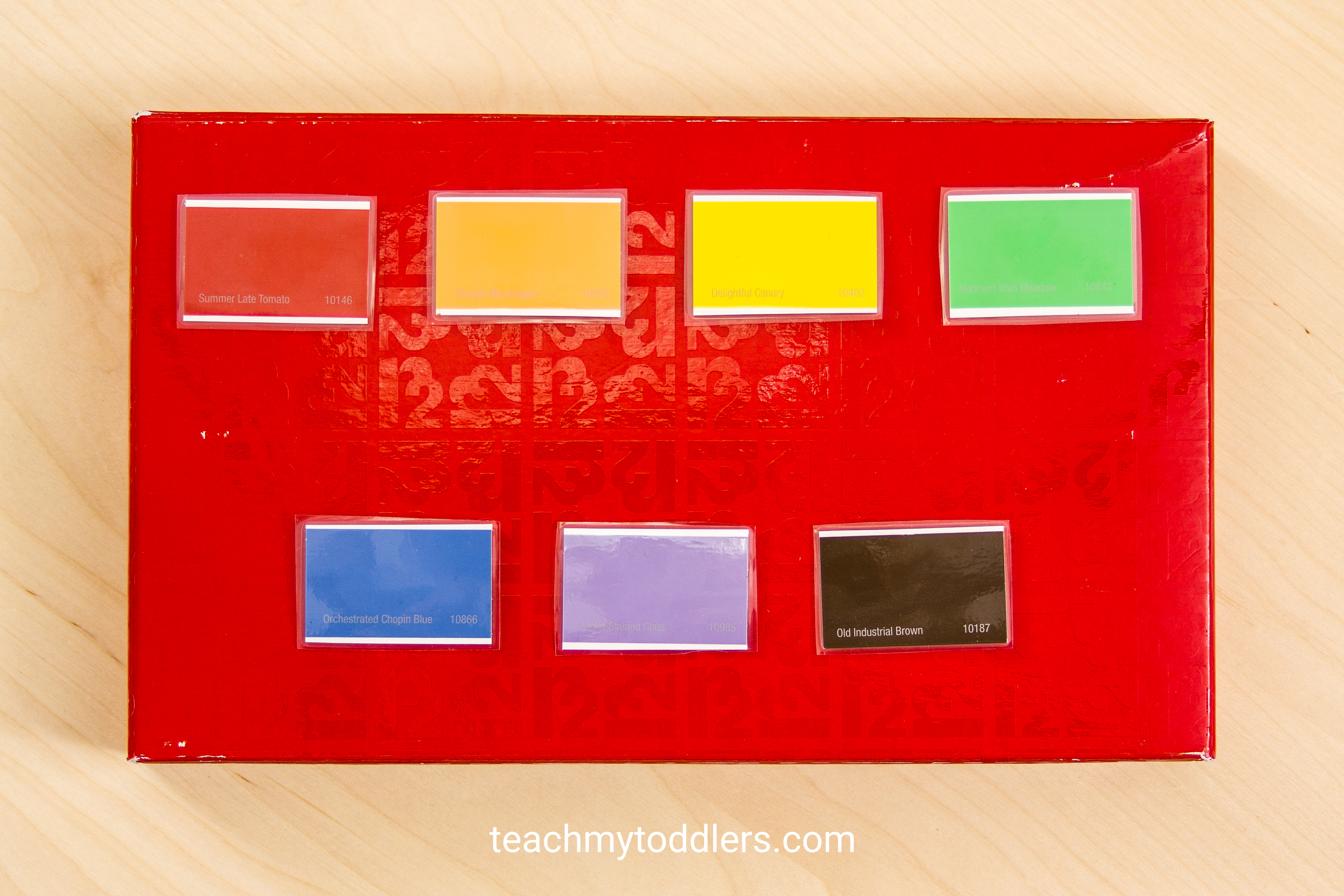 Teach your toddlers colors with this fun activity using paint chips