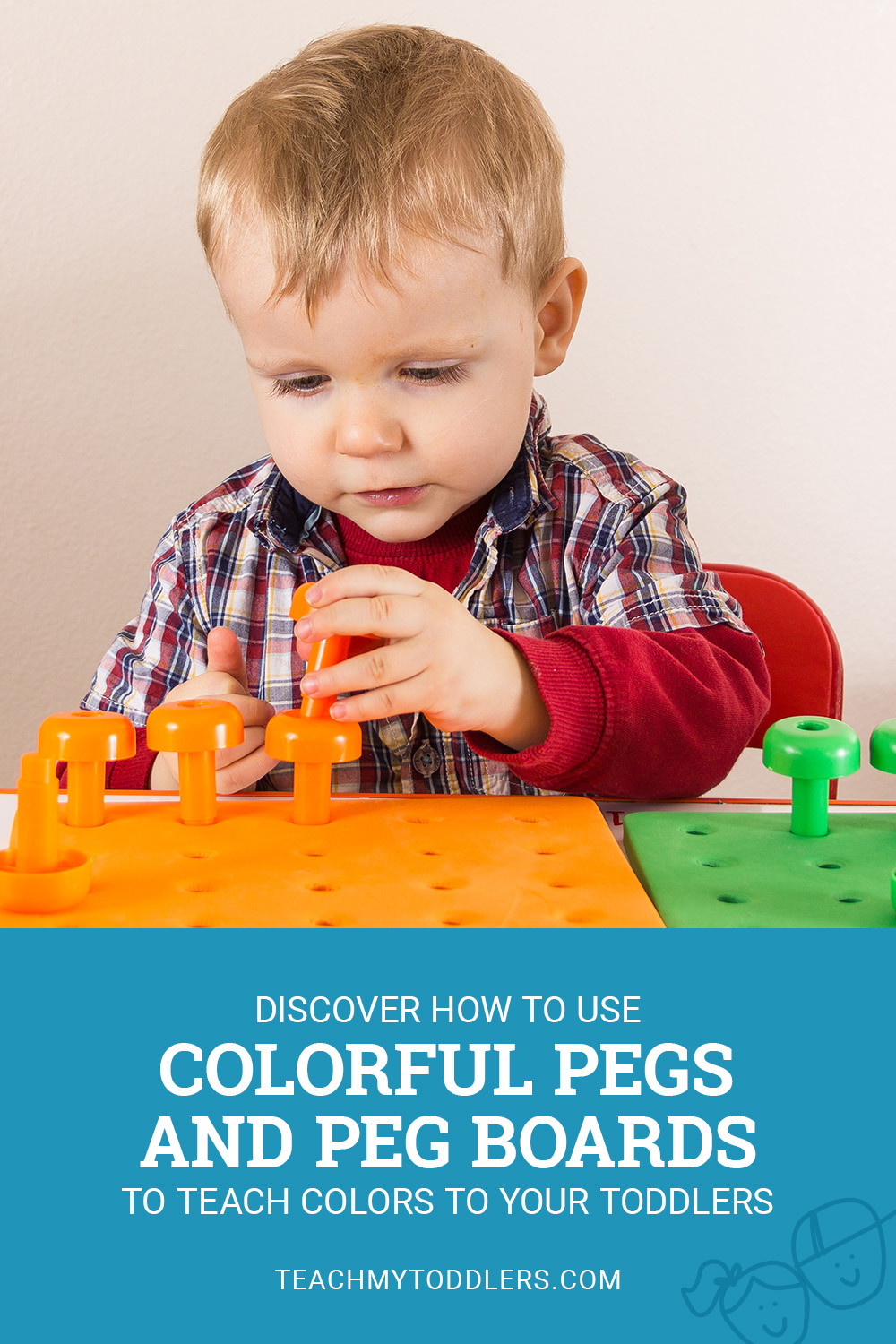 Discover how to use color pegs and peg boards to teach colors to your toddlers
