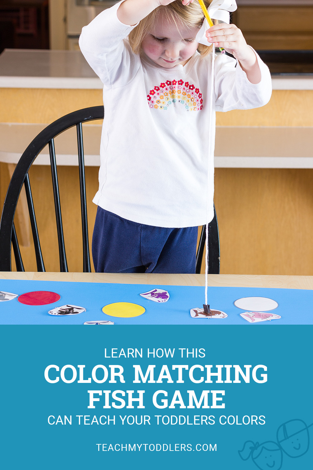Learn how this color matching fish game can teach your toddlers colors