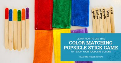 Learn how to use this color matching popsicle game to teach toddlers colors