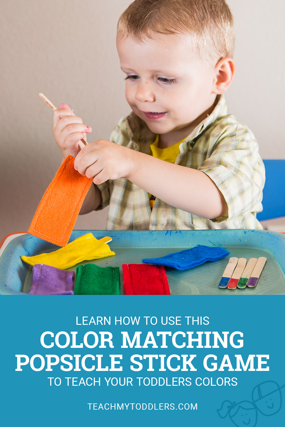 Learn how to use this color matching popsicle game to teach your toddlers colors