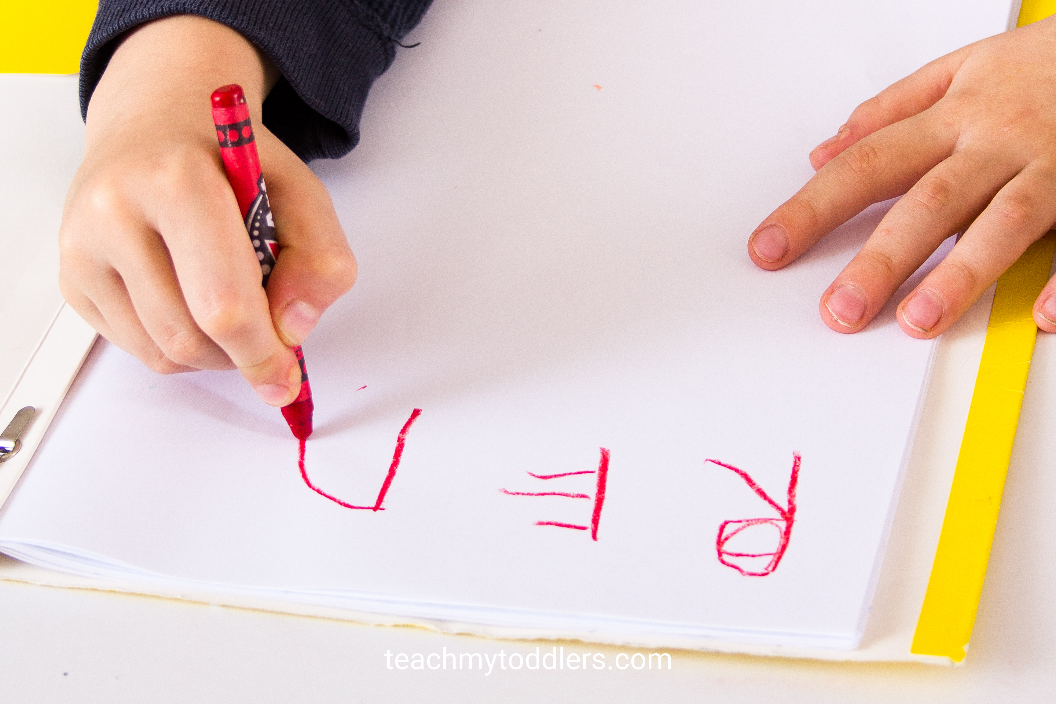Teach toddlers colors with this color puzzle game and preschool kids can write the name of the colors down on paper
