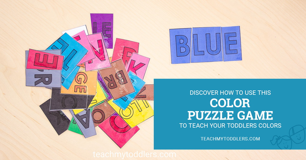 Teach your toddlers colors by using this mutlicolor puzzle game to help kids to match colors