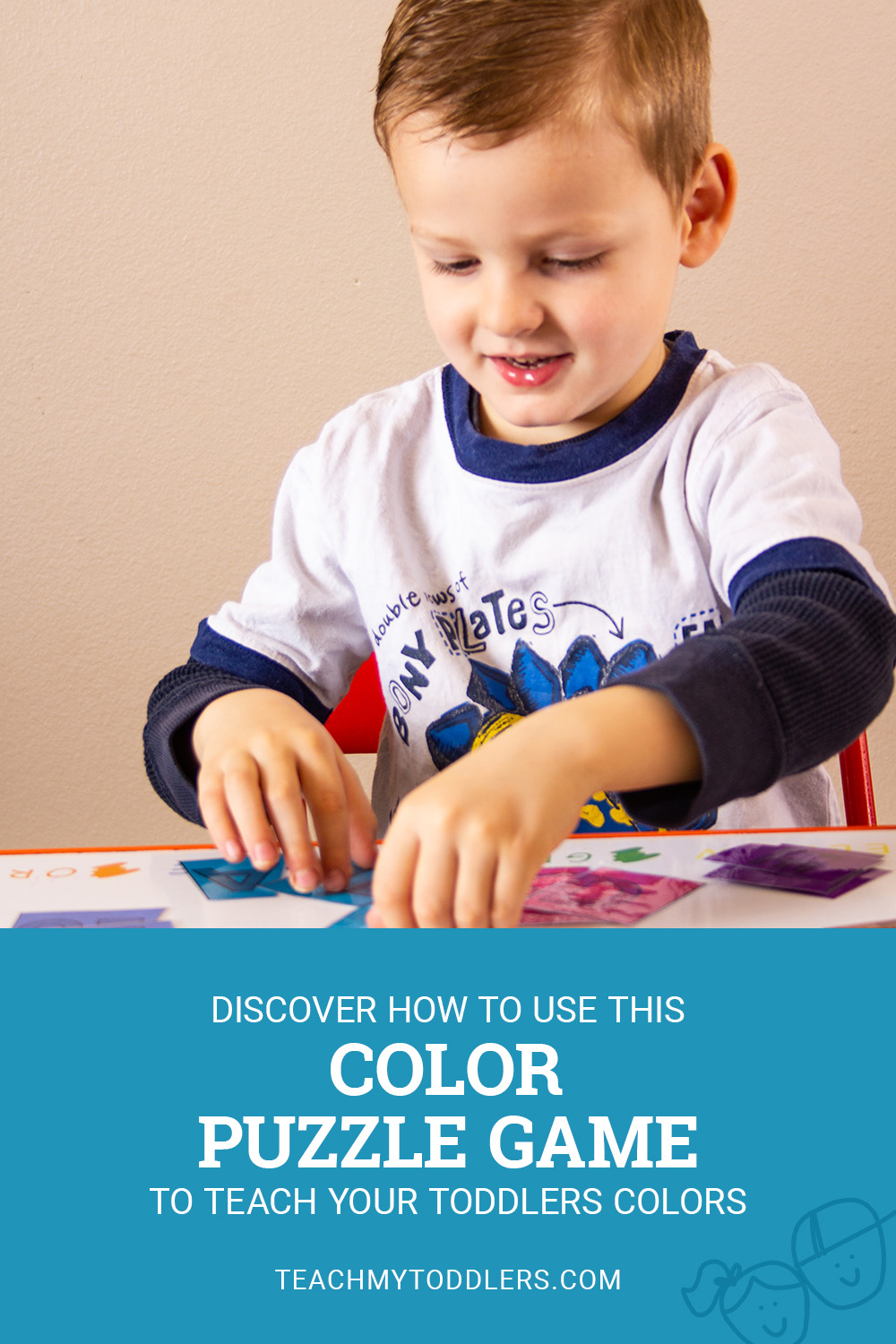 Teach your toddlers colors by using this mutlicolor puzzle game to help your kids match colors