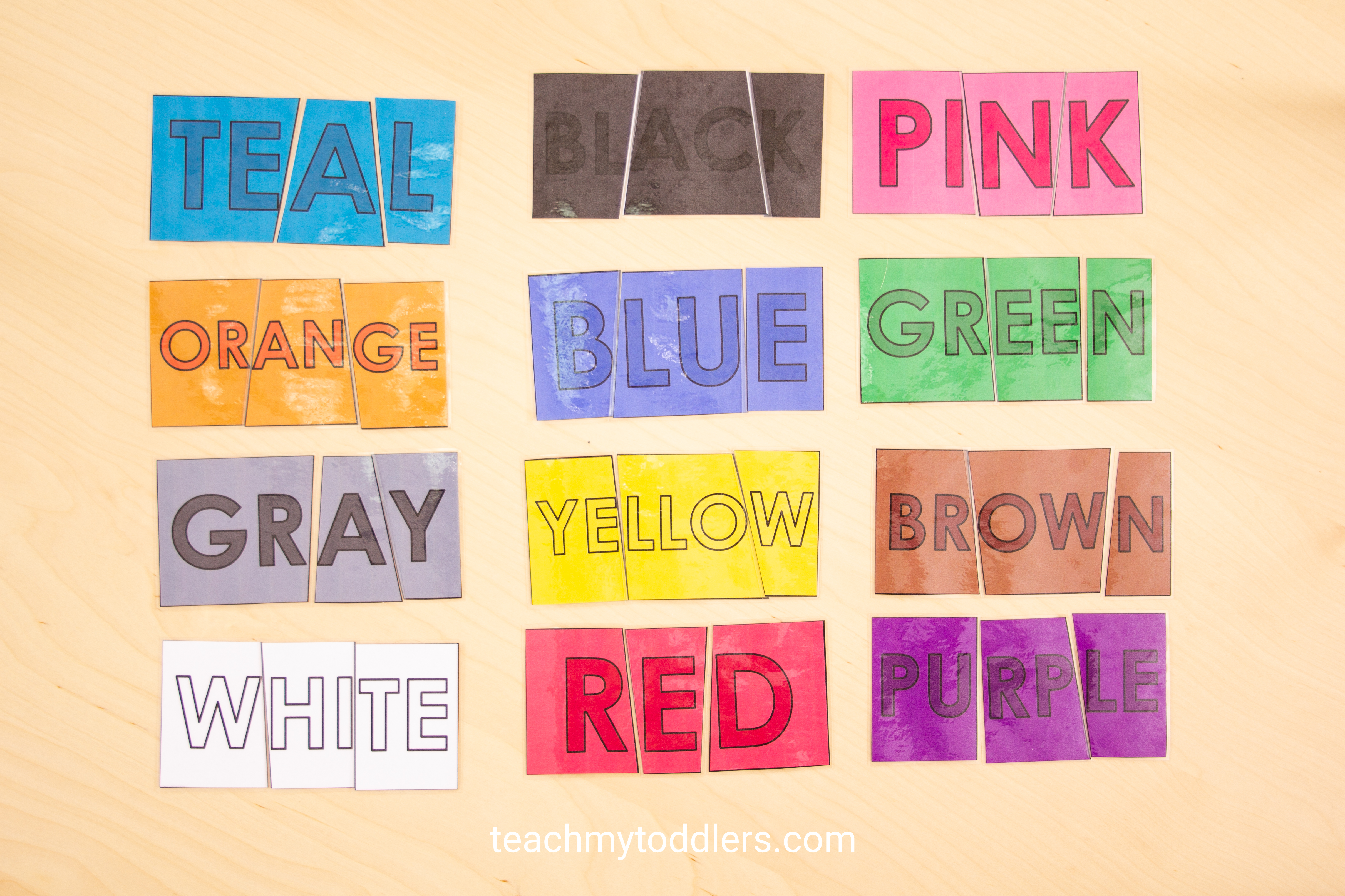 This color puzzle game is a great way to teach your toddlers and preschool kids colors