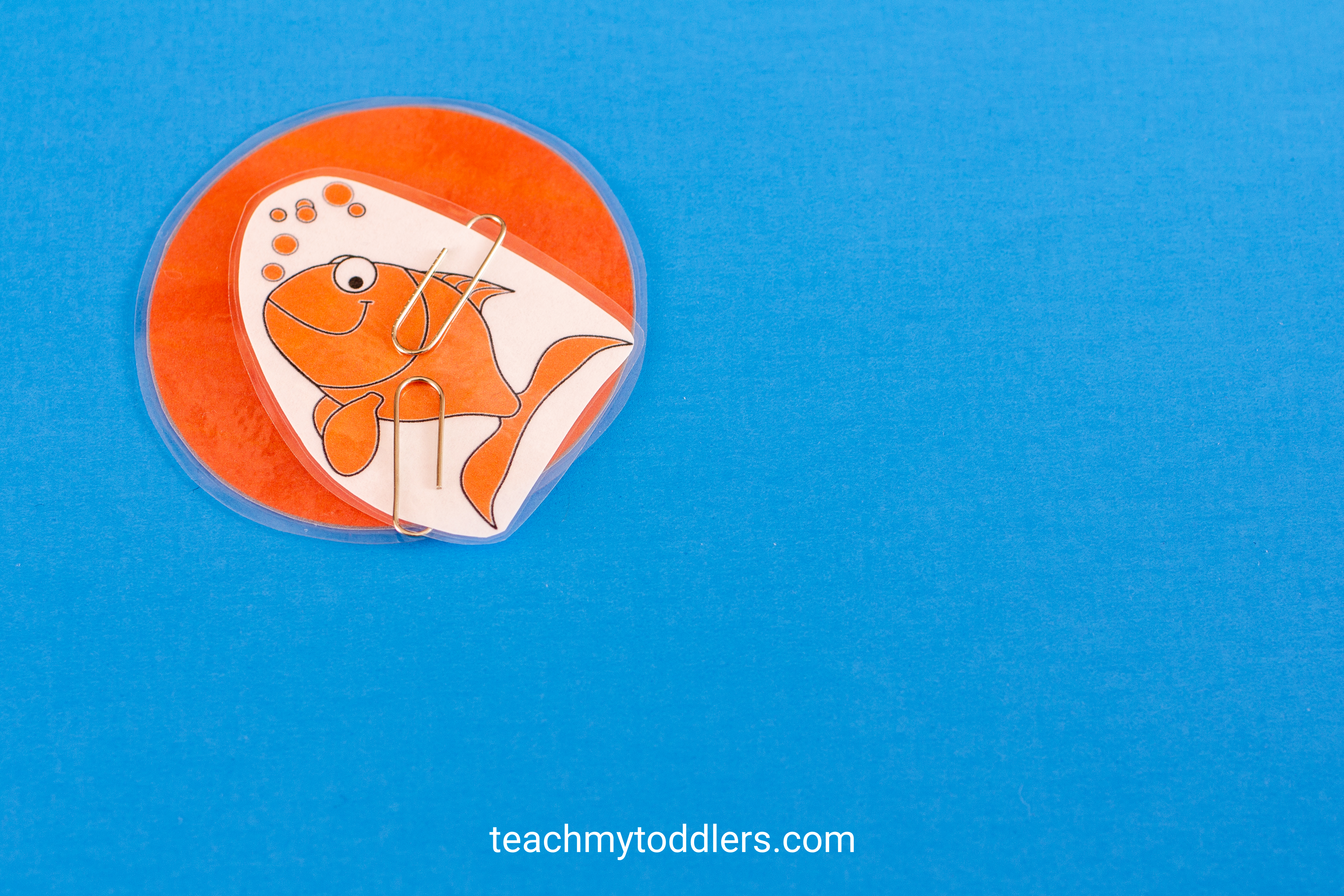 This orange fish is a great way to teach your toddlers colors