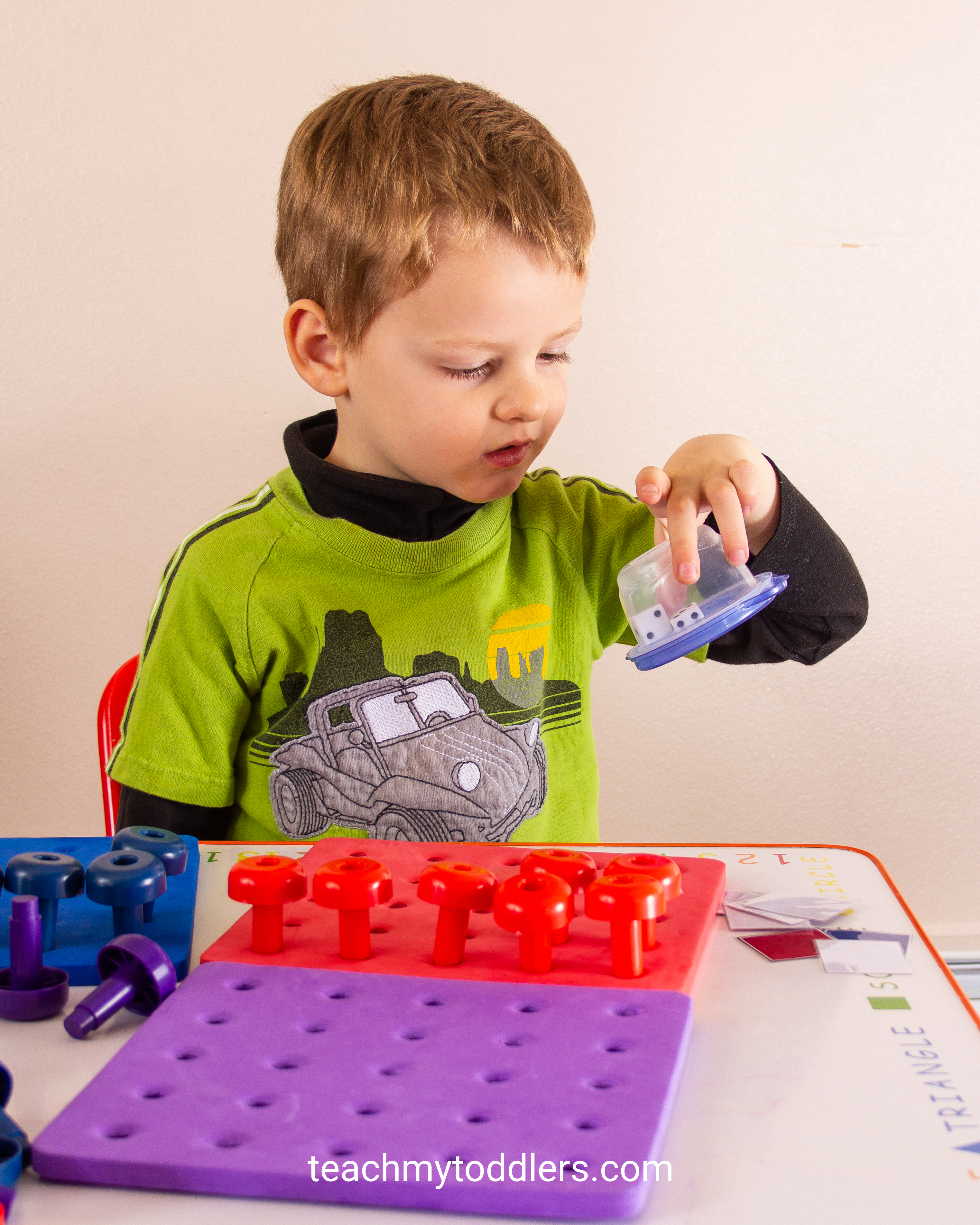 This peg board and pegs can teach your preschool ages colors