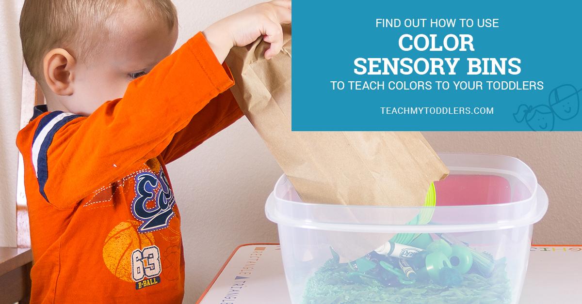 Colors Sensory Bins Toddlers Social