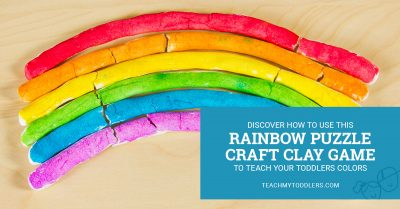 Discover how to use this rainbow puzzle crazy clay game to teach toddlers colors