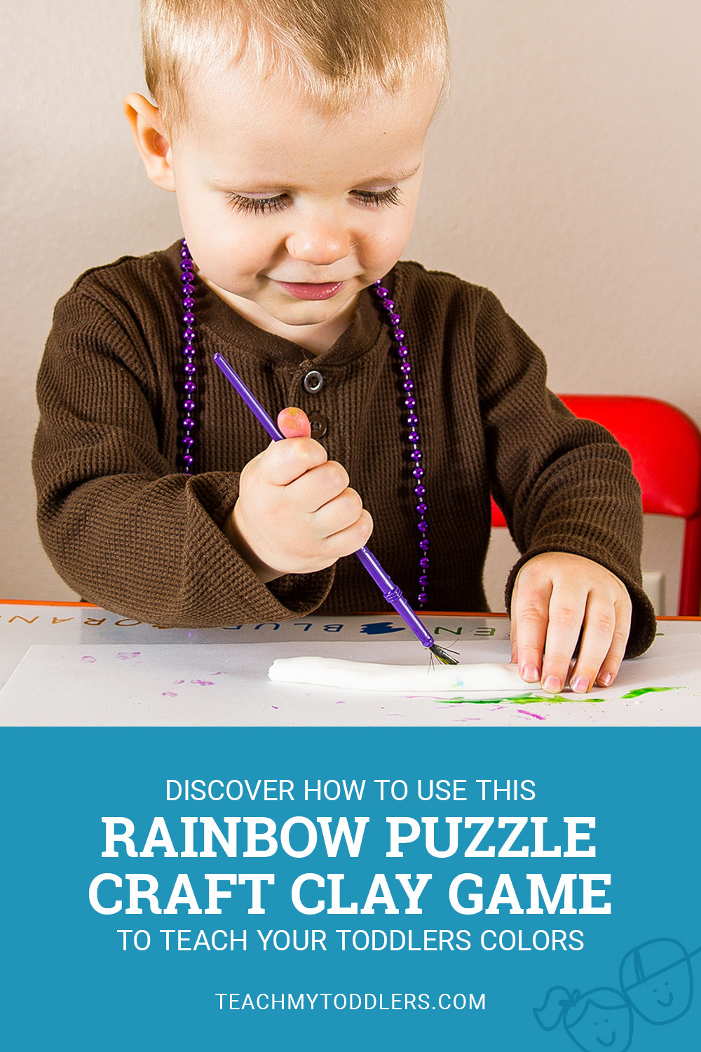 Discover how to use this rainbow puzzle crazy clay game to teach your toddlers colors