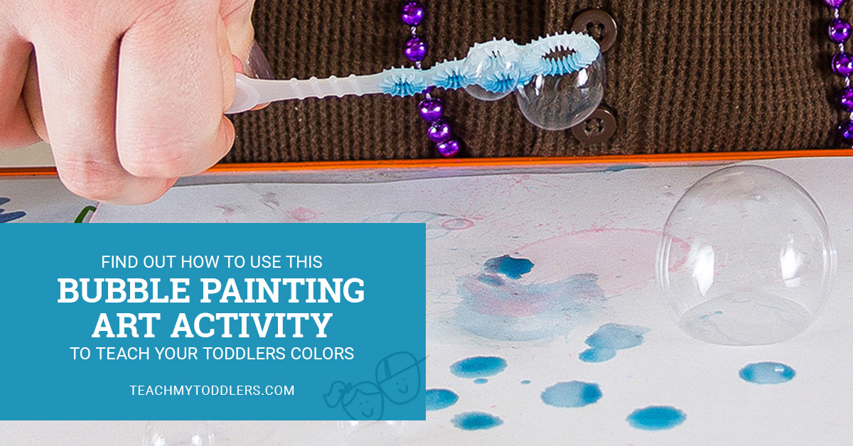 Find out how to use this bubble painting art activity to teach toddlers colors