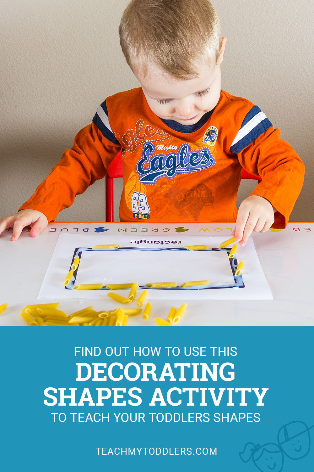 Find out how to use this decorating shapes activity to teach toddlers shapes