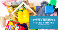 Find out when to teach letters, numbers, colors and shapes to your toddlers